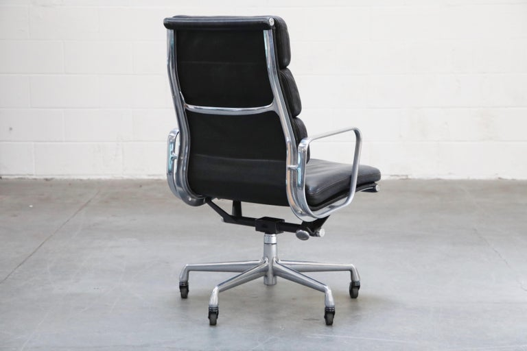 Charles Eames for Herman Miller Soft-Pad Executive Desk Chairs, Signed In Good Condition For Sale In Los Angeles, CA