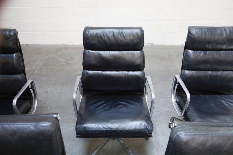 Charles Eames for Herman Miller Soft-Pad Executive Desk Chairs, Signed For Sale 1