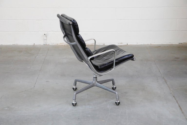 Late 20th Century Charles Eames for Herman Miller Soft Pad Swivel Lounge Chairs, 1970s, Signed For Sale