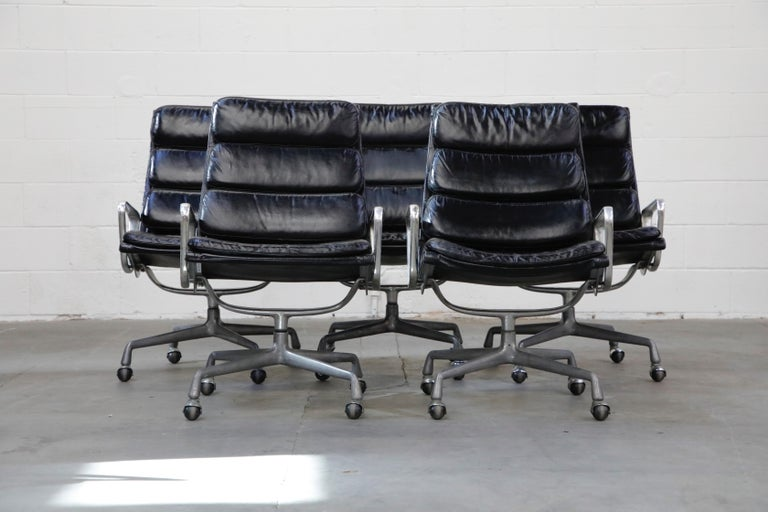 Charles Eames for Herman Miller Soft Pad Swivel Lounge Chairs, 1970s, Signed For Sale 1