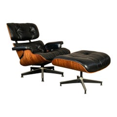 Charles Eames Herman Miller Classic Lounge Chair and Ottoman 670/671