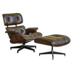 Charles Eames Herman Miller Lounge Chair and Ottoman, 1980