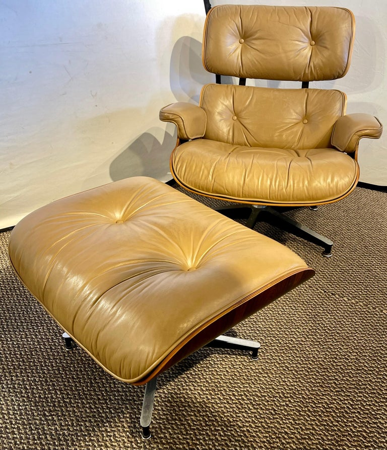 Charles Eames, Herman Miller Midcentury Chair and Ottoman 3