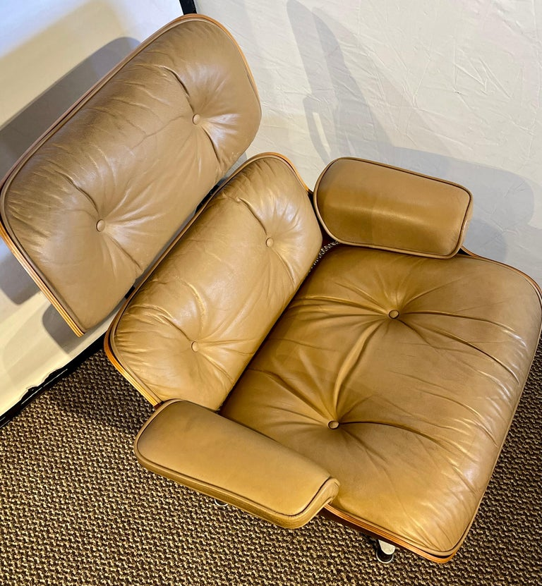20th Century Charles Eames, Herman Miller Midcentury Chair and Ottoman