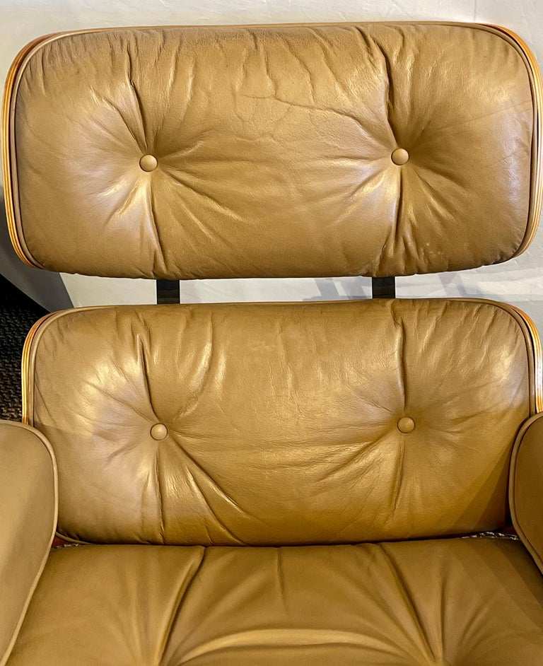 Leather Charles Eames, Herman Miller Midcentury Chair and Ottoman
