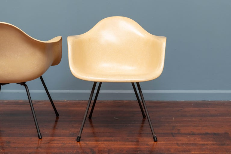 Mid-20th Century Charles Eames LAX Armshell Lounge Chairs For Sale