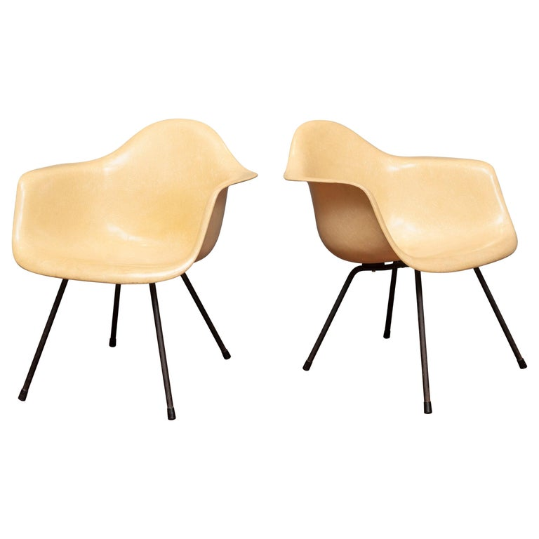 Charles Eames LAX Armshell Lounge Chairs For Sale
