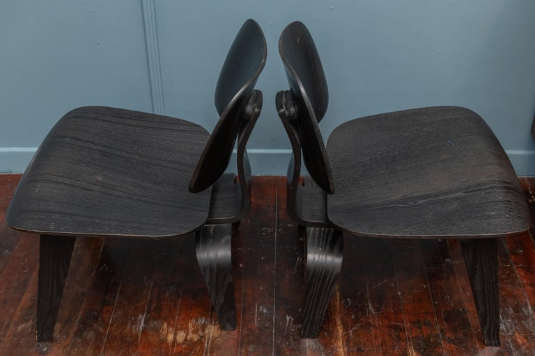 Charles Eames LCW Lounge Chairs In Fair Condition For Sale In San Francisco, CA