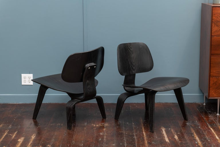 Mid-20th Century Charles Eames LCW Lounge Chairs For Sale