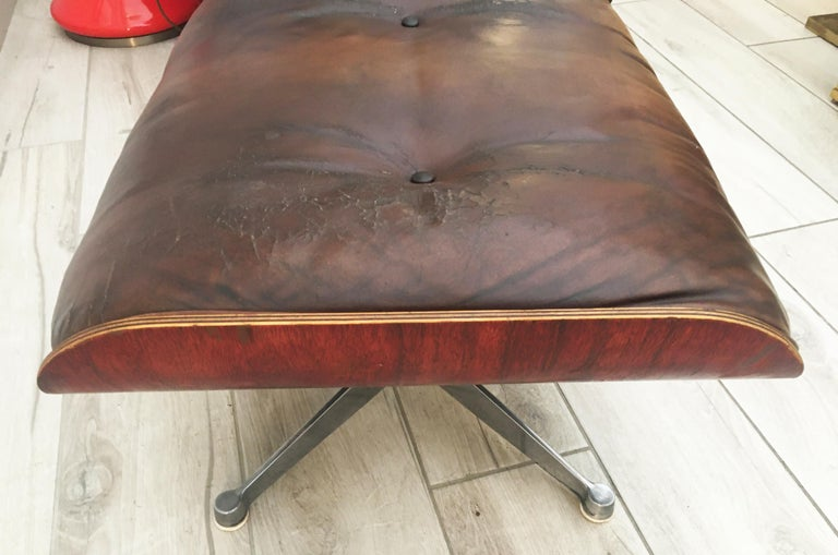Charles Eames for Herman Miller Style Leather Ottoman For Sale 1