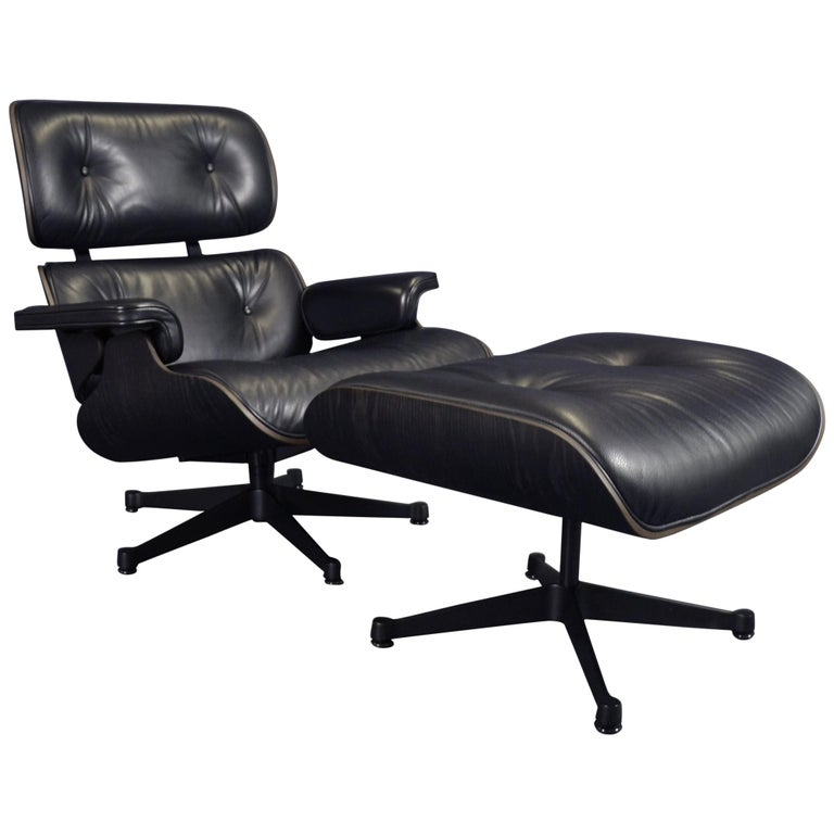 Tremendous Charles Eames Lounge Chair Mit Ottoman By Vitra Herman Miller Black Edition Theyellowbook Wood Chair Design Ideas Theyellowbookinfo