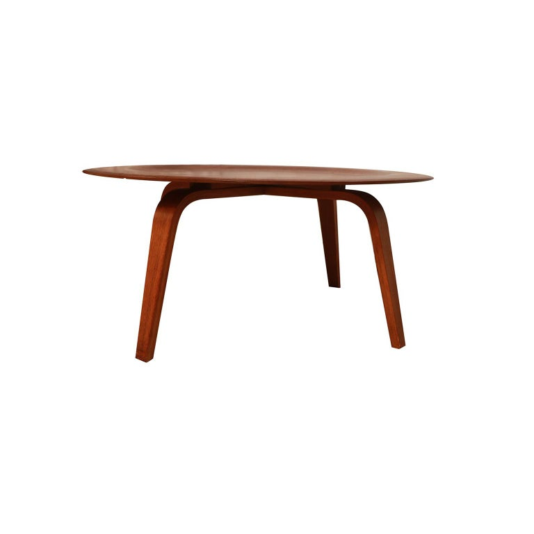 Mid-20th Century Charles Eames Molded Plywood CTW Coffee Table for Herman Miller For Sale