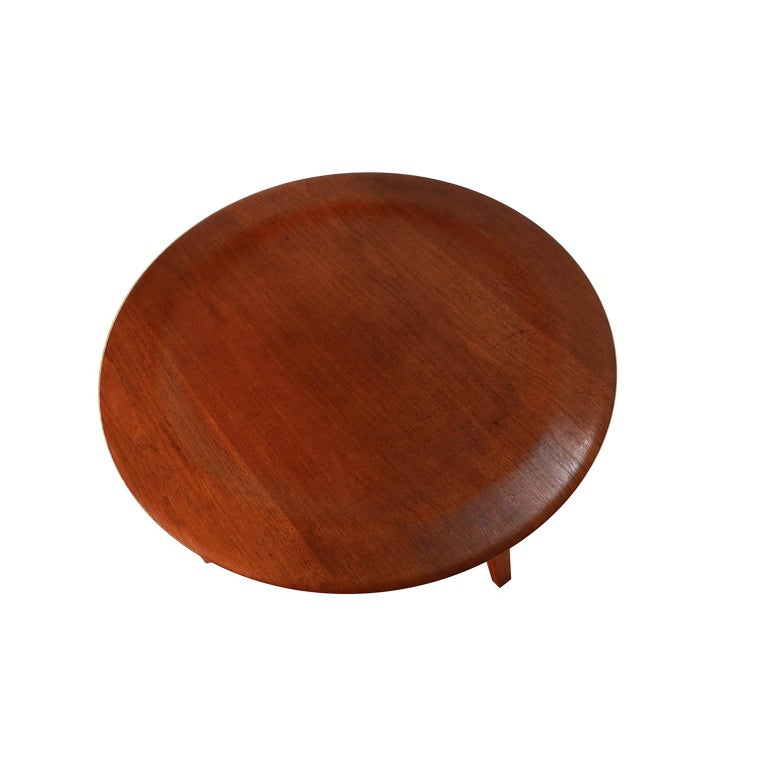 Bentwood Charles Eames Molded Plywood CTW Coffee Table for Herman Miller For Sale