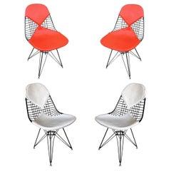 Charles Eames Orange DKR Bikini Chair for Herman Miller, Set of Four