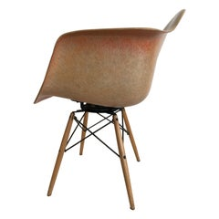"Charles Eames ""PAW Chair"" Swivel Fiber Glass Shell Dowel Leg aCa"