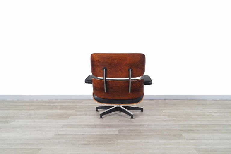 Charles Eames Rosewood Lounge Chair and Ottoman by Herman Miller 4