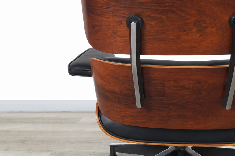 Charles Eames Rosewood Lounge Chair and Ottoman by Herman Miller 5