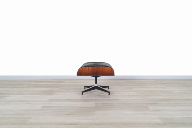 Charles Eames Rosewood Lounge Chair and Ottoman by Herman Miller 8