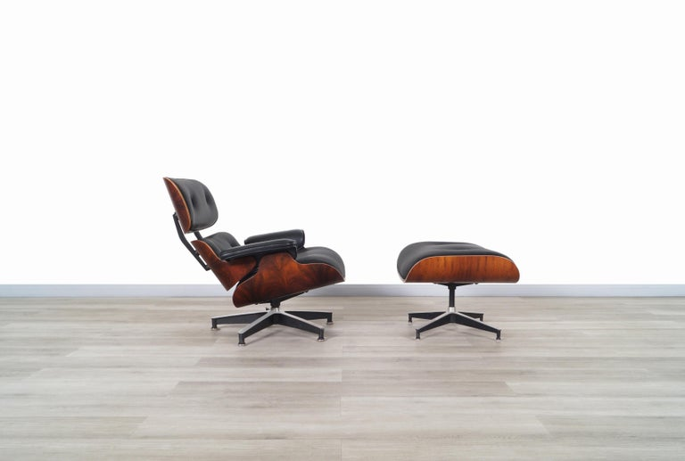 American Charles Eames Rosewood Lounge Chair and Ottoman by Herman Miller