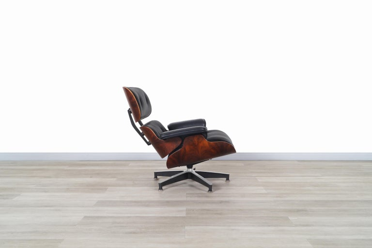 Charles Eames Rosewood Lounge Chair and Ottoman by Herman Miller 1