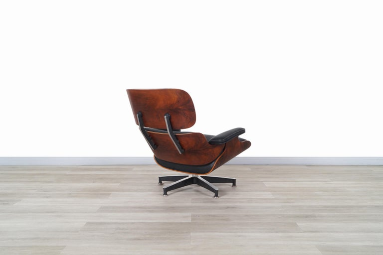 Charles Eames Rosewood Lounge Chair and Ottoman by Herman Miller 2