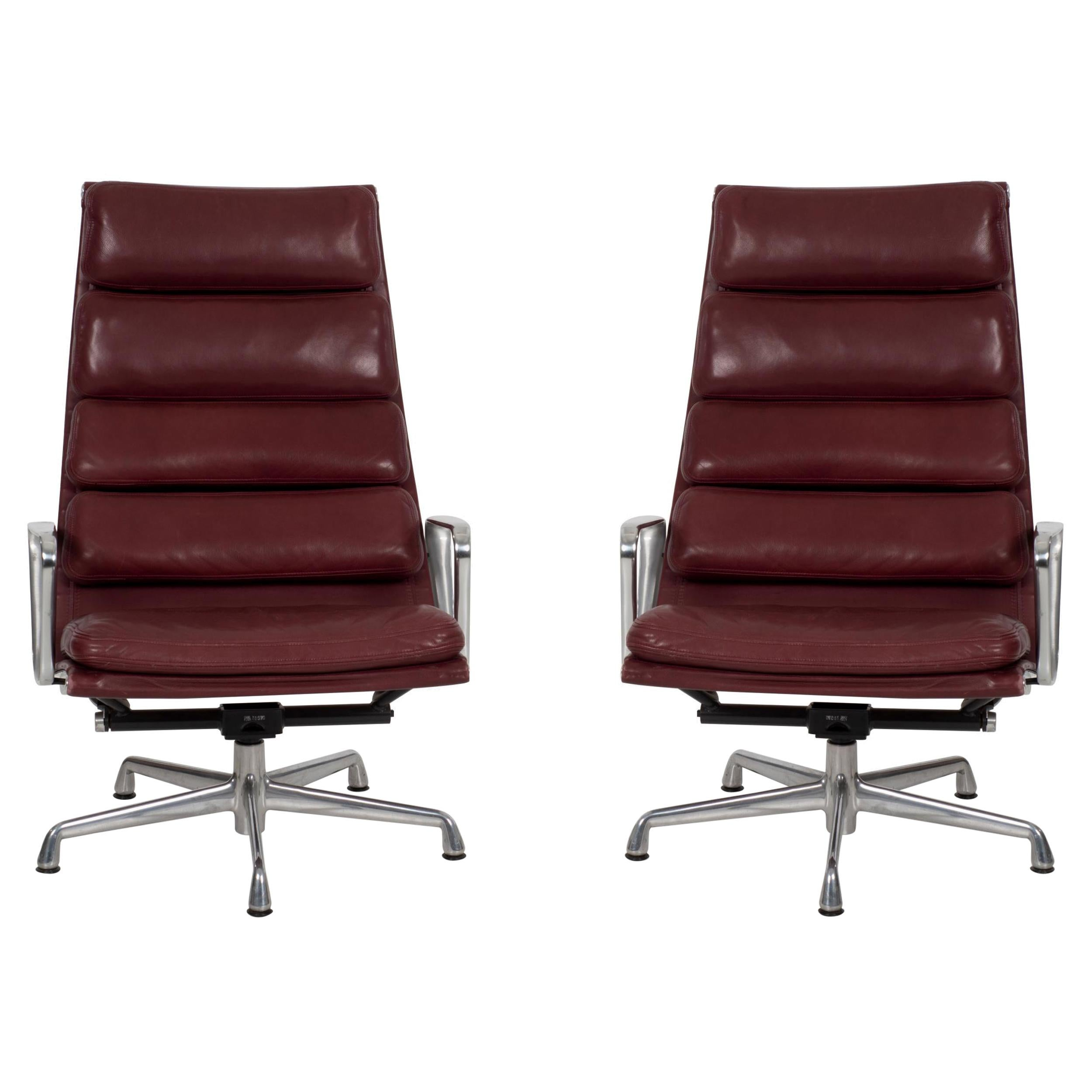 Charles Eames Soft Pad Lounge Chairs