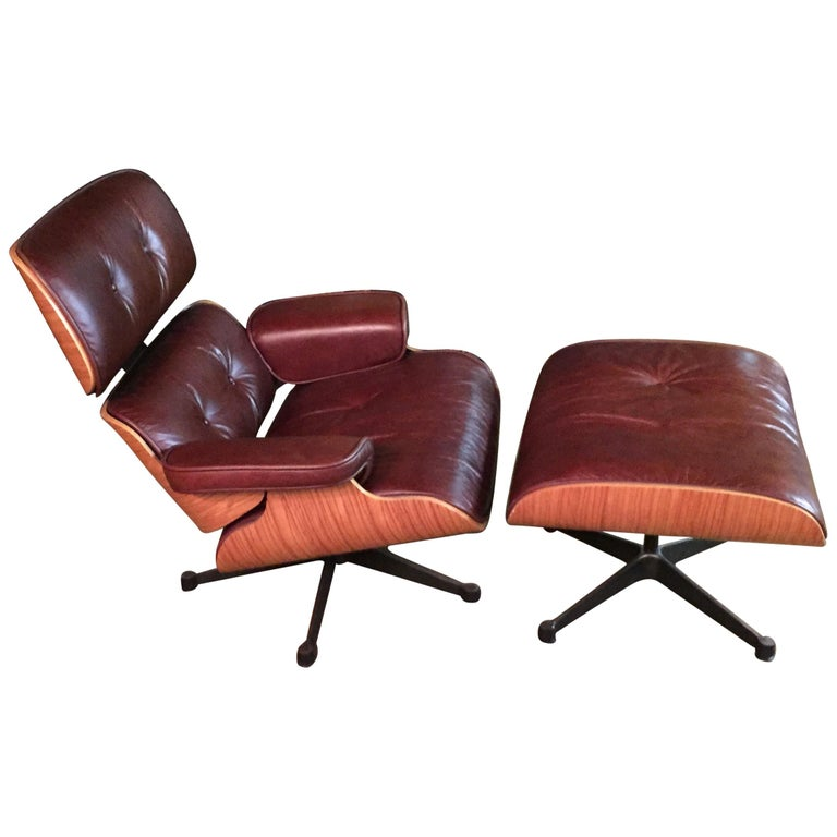 Wondrous Charles Eames Style Lounge Chair With Ottoman Cjindustries Chair Design For Home Cjindustriesco