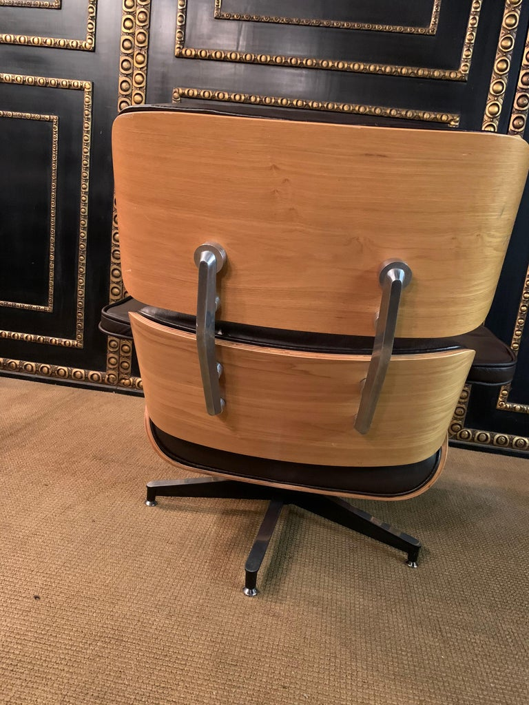 Charles Eames Style Lounge Chair with Ottoman real Leather 7