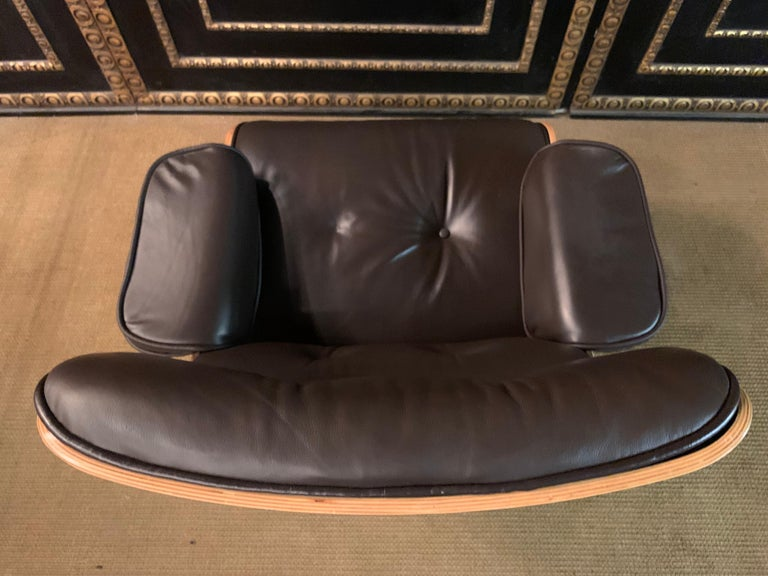 Charles Eames Style Lounge Chair with Ottoman real Leather 9