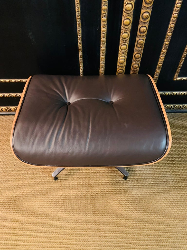 Charles Eames Style Lounge Chair with Ottoman real Leather 11