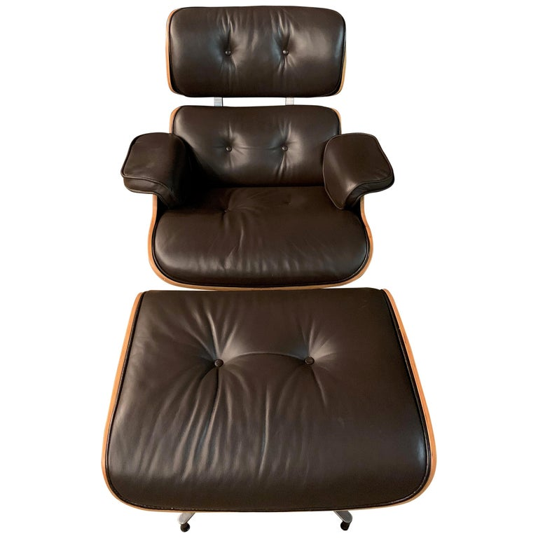 Charles Eames Style Lounge Chair with Ottoman real Leather