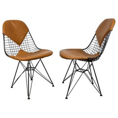 Charles Eames Wire Chairs with Bikini Cover on Eiffel Base's