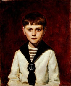 Portrait of Willy - Original Oil on Canvas by Carolus-Duran - 1870 ca.