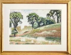 Scene on Windspear Road, Watercolor by Charles Burchfield 1935