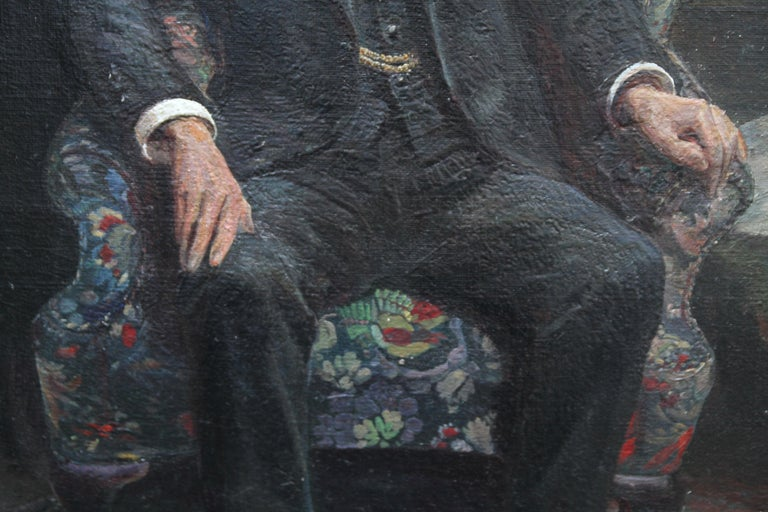 Philip Joubert - British art portrait oil painting senior commander 1930's WWII 4