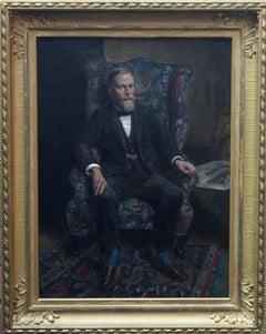 Philip Joubert - British art portrait oil painting senior commander 1930's WWII