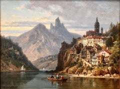 City on an Alpine Lake