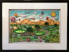Desert Green, Palm Springs, 3-D Golf Print by Charles Fazzino