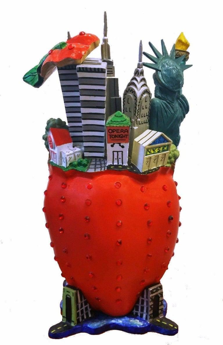 BIG APPLE - Pop Art Sculpture by Charles Fazzino