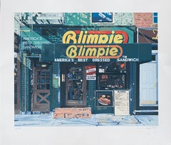 Blimpie, America's Best Dressed Sandwich Pop Art Photo Realist Silkscreen Litho