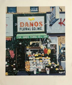 Danos Flower Shop, NYC Pop Art Photo Realist Silkscreen Lithograph
