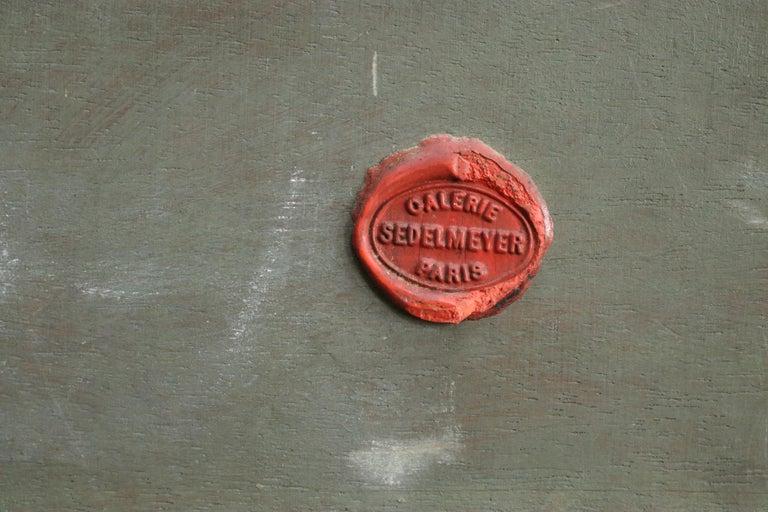 Lavandiere by River - 19th Century Barbizon Oil, Figure by River by C F Daubigny For Sale 5