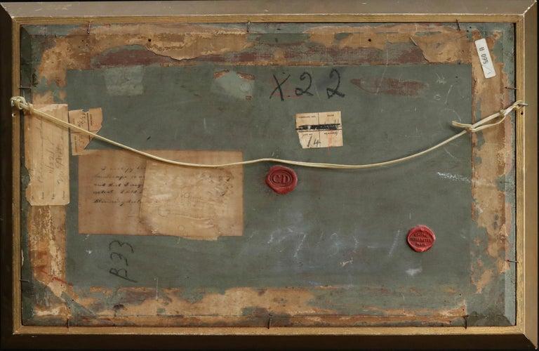 Lavandiere by River - 19th Century Barbizon Oil, Figure by River by C F Daubigny For Sale 1