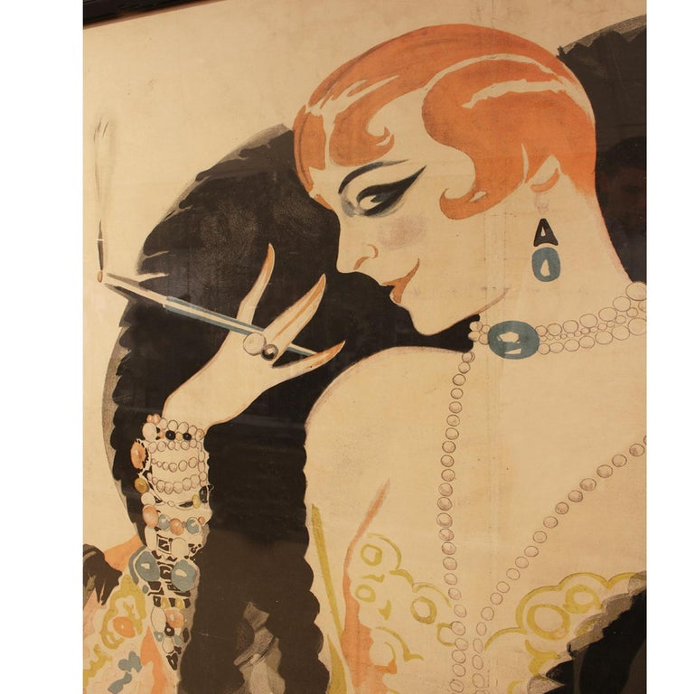 Mid-Century Modern Charles Gesmar Original Jane Pierly Poster, 1925 'Signed' For Sale