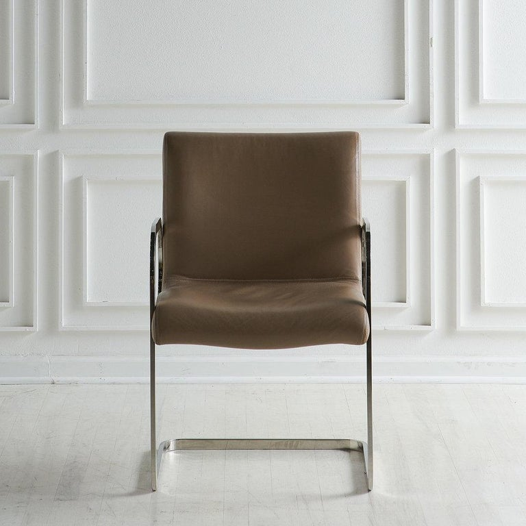 Charles Gibilterra Leather and Chrome