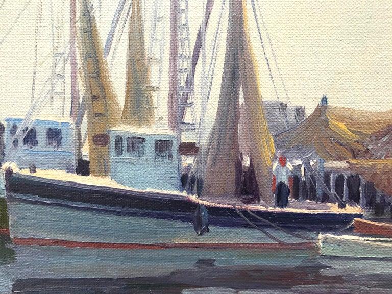 """Port of Galilee, Narragansett"" - Post-Impressionist Painting by Charles Gordon Harris"