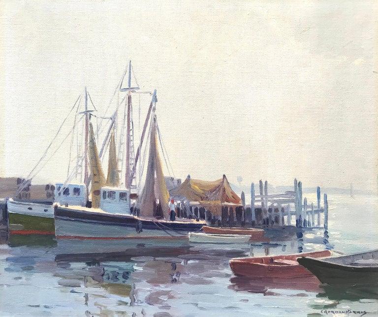 "Charles Gordon Harris Landscape Painting - ""Port of Galilee, Narragansett"""