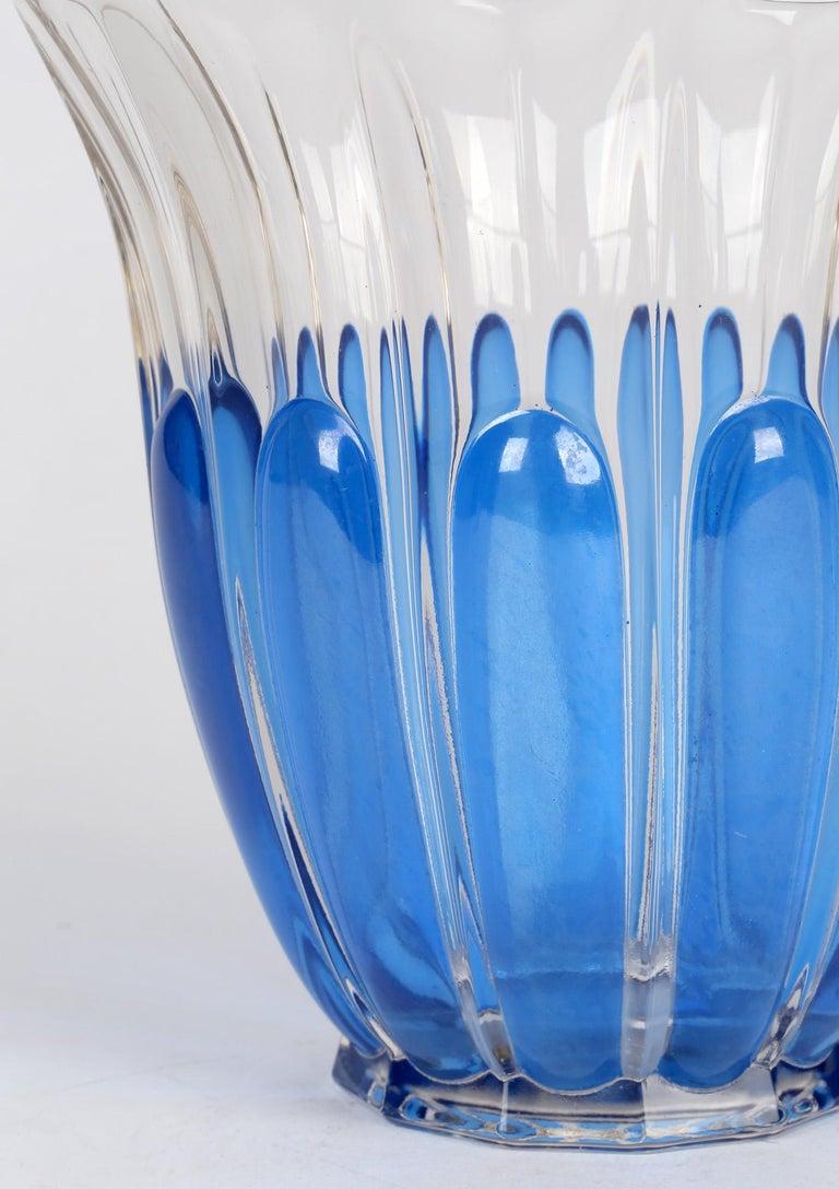 Charles Graffart Val St Lambert Art Deco Luxval Helvete Design Art Glass Vase For Sale 4