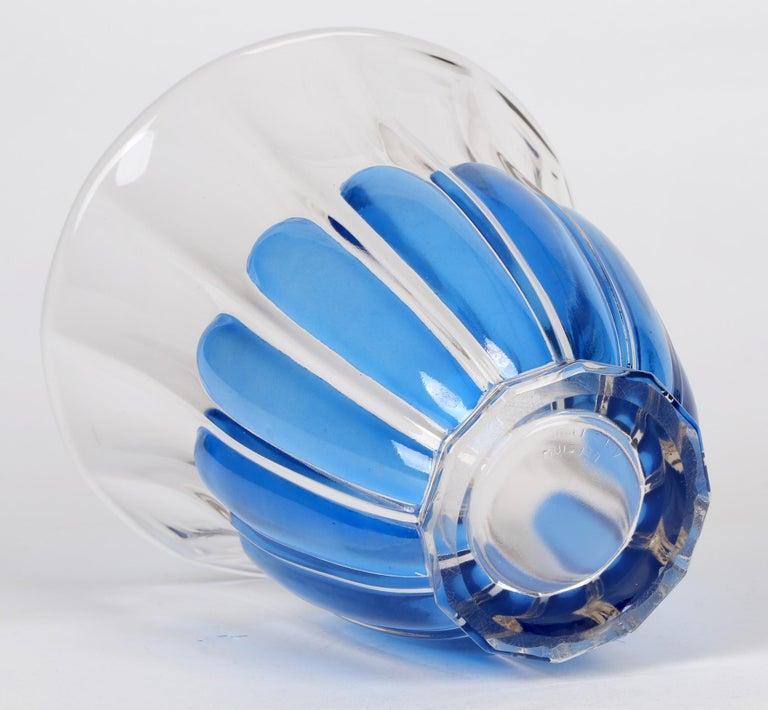 Charles Graffart Val St Lambert Art Deco Luxval Helvete Design Art Glass Vase In Good Condition For Sale In Bishop's Stortford, Hertfordshire