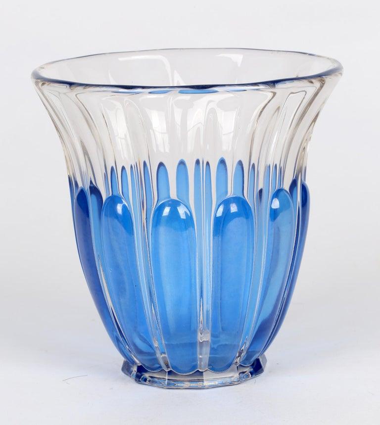 Charles Graffart Val St Lambert Art Deco Luxval Helvete Design Art Glass Vase For Sale 2